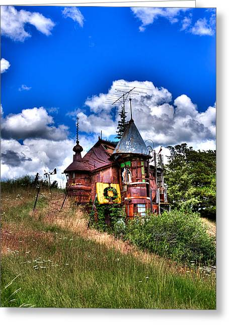 Junk Greeting Cards - A Little Bit of Oz in Palouse Country Greeting Card by David Patterson