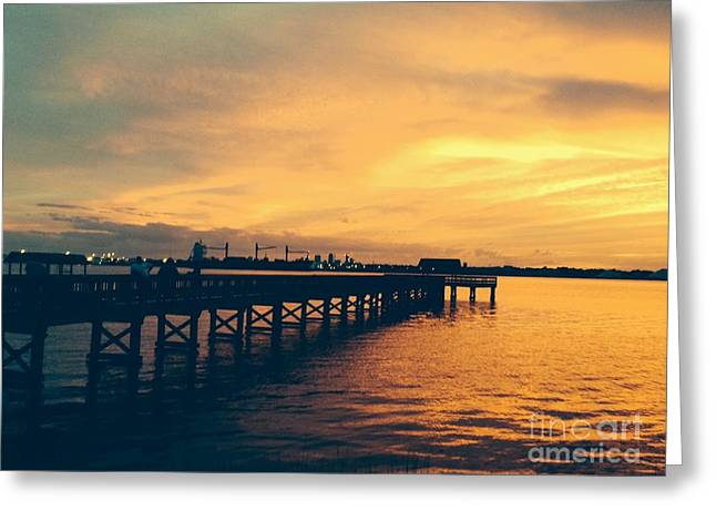 Jacksonville Greeting Cards - A Little Perspective at Sunset Greeting Card by Mitzisan Art LLC