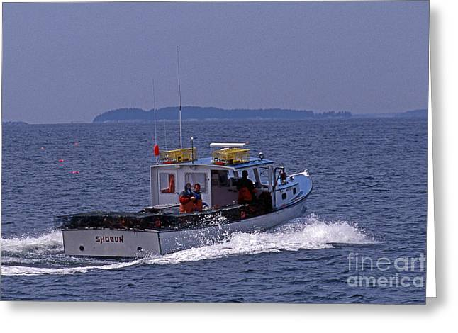 Surf Photos Art Greeting Cards - A Lobstering We Will Go Greeting Card by Skip Willits