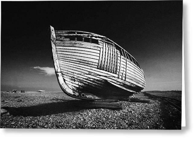 Dave Greeting Cards - A Lonely Boat Greeting Card by David Hare