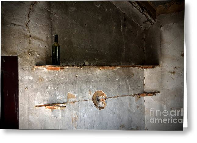 A Lonely Bottle In An Abandoned Little House Greeting Card by RicardMN Photography