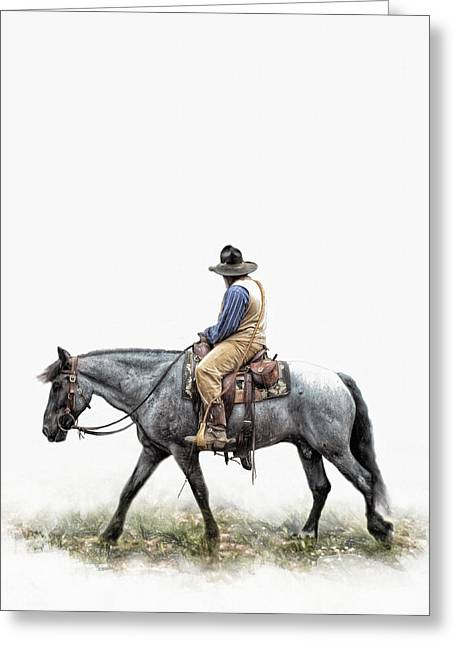 Chaps Greeting Cards - A Long Day on the Trail Greeting Card by David and Carol Kelly