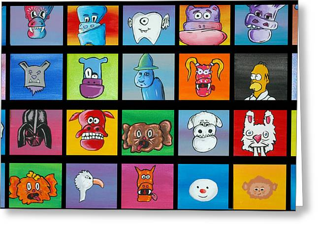 A Lot Of Character Greeting Card by Jera Sky