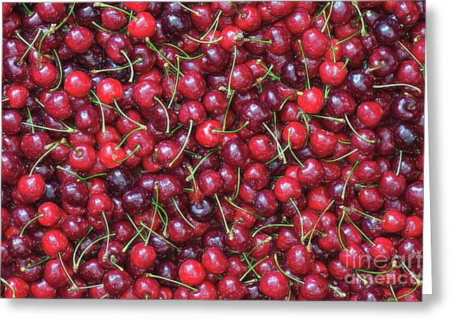 A Lotta Cherries Greeting Card by Tim Gainey