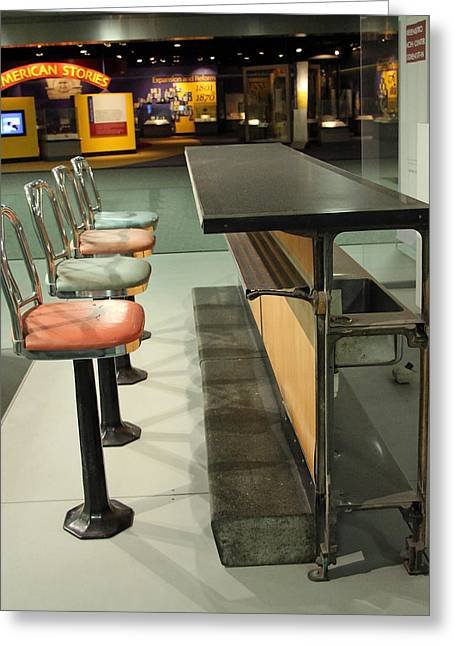 Sit-ins Greeting Cards - A Lunch Counter In Greensboro Greeting Card by Cora Wandel