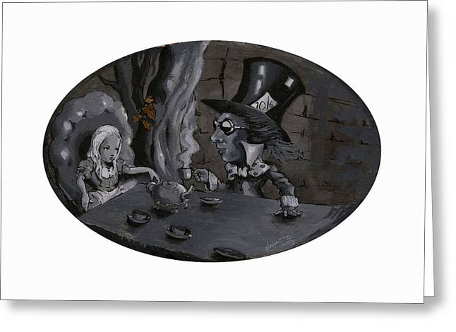 A Mad Tea Party Greeting Card by Luis  Navarro