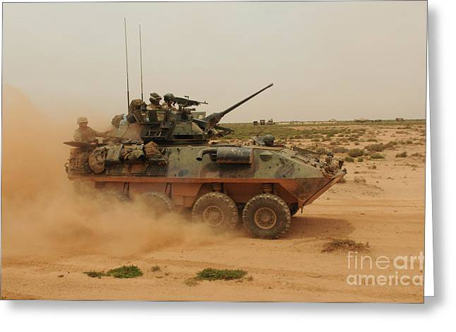 A Marine Corps Light Armored Vehicle Greeting Card by Stocktrek Images