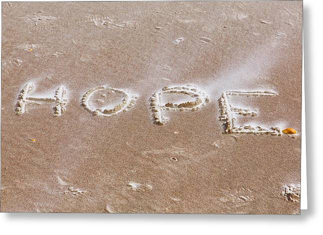 Short Sleeves Greeting Cards - A Message on the Beach Greeting Card by John Bailey