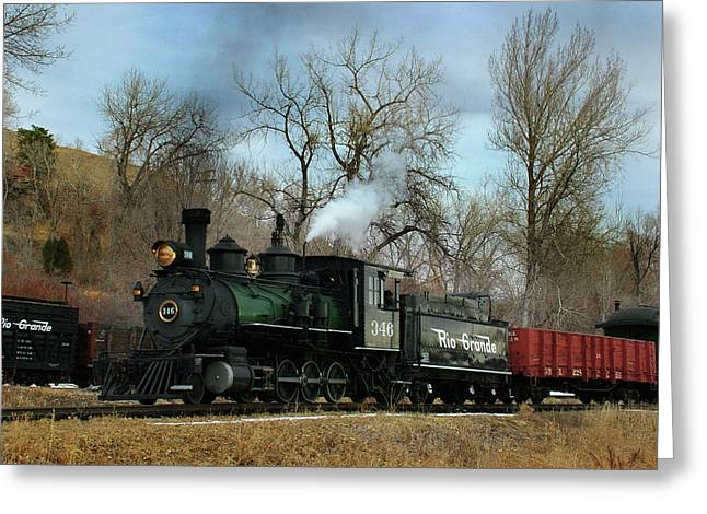 Colorado Railroad Museum Greeting Cards - A Mid Day Run Greeting Card by Ken Smith
