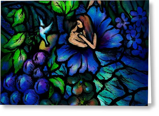 A Midnight Dream Greeting Card by Rachel Christine Nowicki