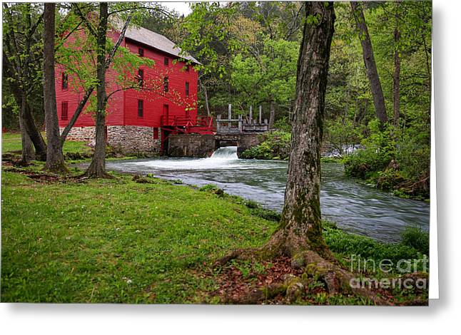 Grist Mill Greeting Cards - A Mill in the Ozarks Greeting Card by Lynn Sprowl