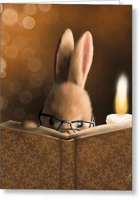 A Mystery Story Greeting Card by Veronica Minozzi