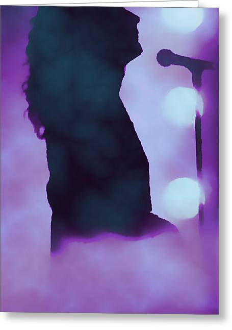 Robert Plant Digital Art Greeting Cards - A Misty Stage Greeting Card by Sara Pixel Pixie