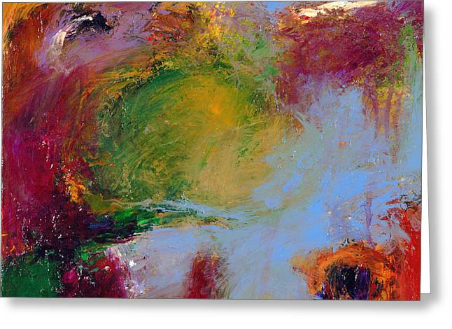 Abstract Expressionistic Greeting Cards - A Moment Captured Greeting Card by Johnathan Harris
