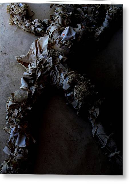 Conscious Sculptures Greeting Cards - A moment of Rags Greeting Card by Joey Dott
