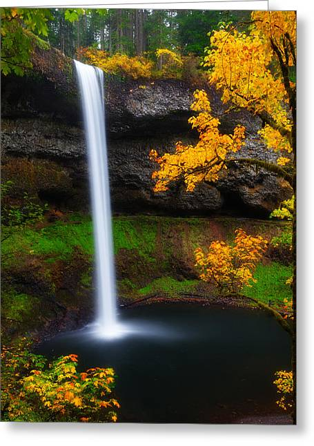 Waterfall Greeting Cards - A Moment of Silence Greeting Card by Darren  White