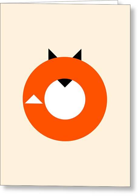 A Most Minimalist Fox Greeting Card by Nicholas Ely