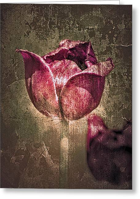 Textured Floral Greeting Cards - A Mothers Day Card Greeting Card by Linda Sannuti