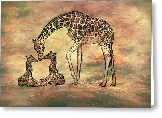 A Mothers Love Greeting Card by Jack Zulli