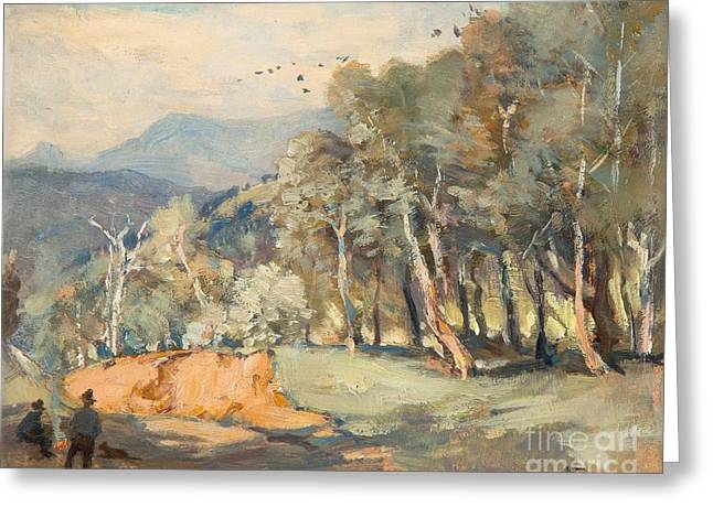 Mountain Road Greeting Cards - A Mountain Road Greeting Card by Albert Henry Fullwood