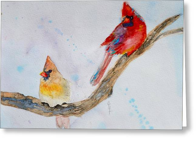 Pairs Greeting Cards - A Musical Partnership Greeting Card by Beverley Harper Tinsley
