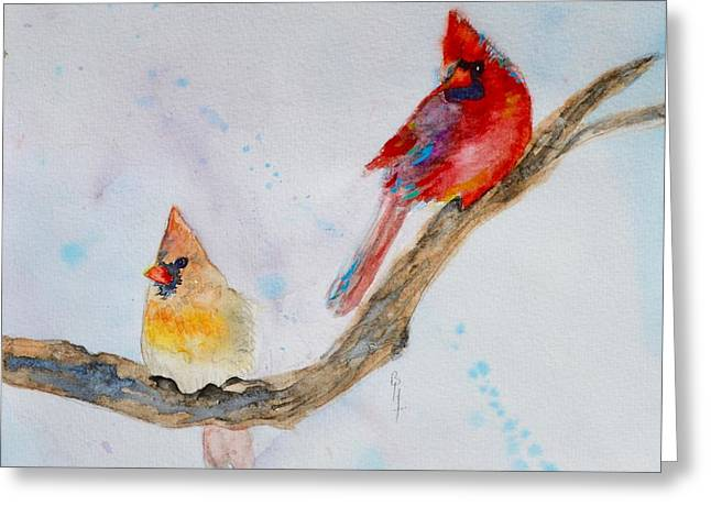 Pairs Greeting Cards - A Musical Partnership Version 2 Greeting Card by Beverley Harper Tinsley