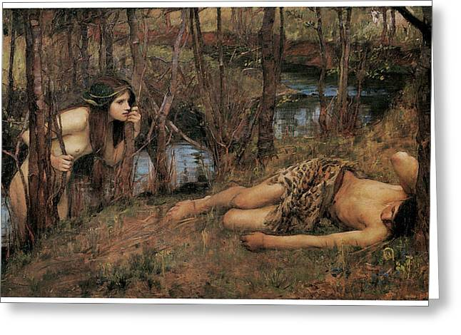 Fantasy Creatures Greeting Cards - A Naiad Greeting Card by John William Waterhouse