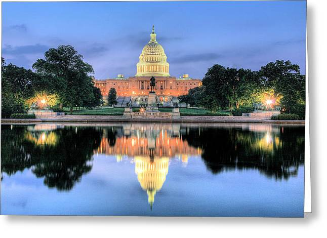 Us Senate Greeting Cards - A Nation Awakens Greeting Card by JC Findley
