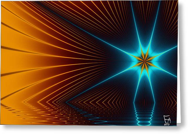 Abstract Geometric Greeting Cards - A New Dawn 03 Greeting Card by Edward Anderson