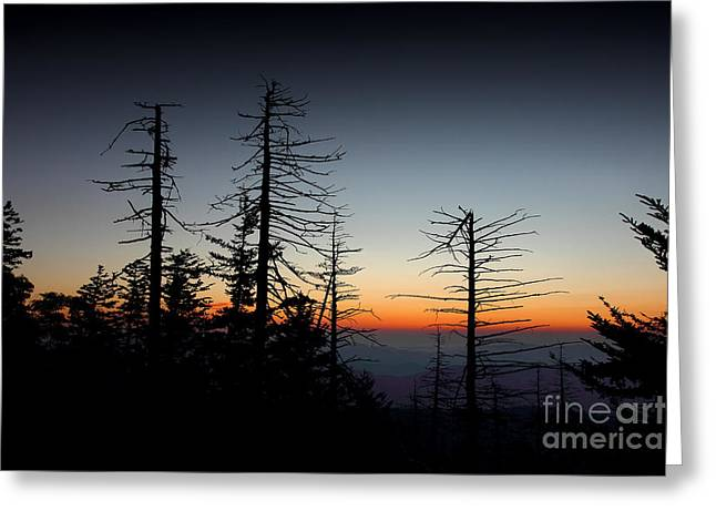 Smoky Greeting Cards - A New Dawn Warms The Horizon Greeting Card by Mike Eingle