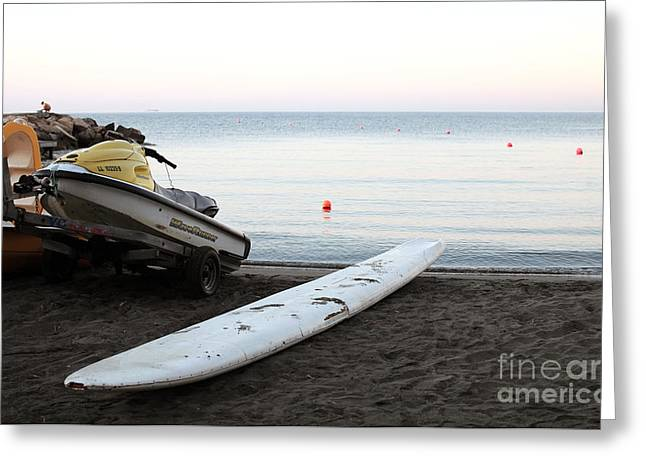 Runner Boards Greeting Cards - A New Day Begins Greeting Card by John Rizzuto