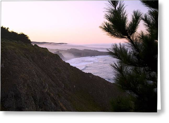 California Coastline Greeting Cards - A new day ragged point Greeting Card by Gary Brandes