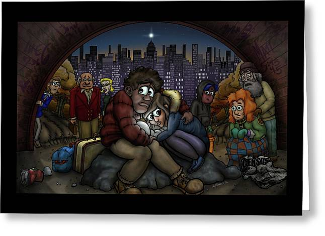 A New York City Nativity Greeting Card by Adam Nettesheim