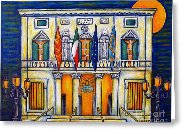 Lisa Lorenz Paintings Greeting Cards - A Night at the Fenice Greeting Card by Lisa  Lorenz