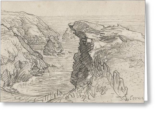 A Page From A Cornish Sketchbook - Cornwall 30 Greeting Card by Samuel Palmer