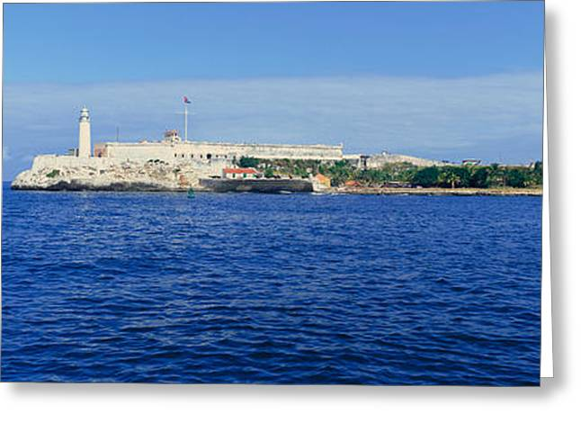 A Panoramic View Of Castillo Del Morro Greeting Card by Panoramic Images