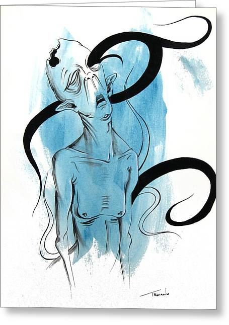 Alien Paintings Greeting Cards - A Pardee Greeting Card by Matt Truiano