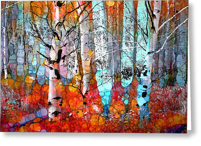 Layer Greeting Cards - A Party in the Forest Greeting Card by Tara Turner