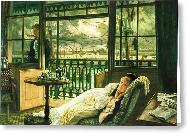 1876 Digital Greeting Cards - A Passing Storm 1876  Greeting Card by Jacques Joseph Tissot