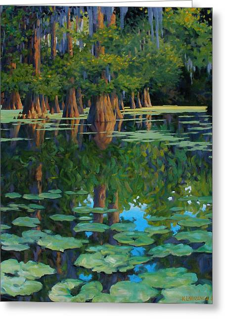 Swamp Greeting Cards - A Patch of Blue Greeting Card by Kevin Lawrence Leveque