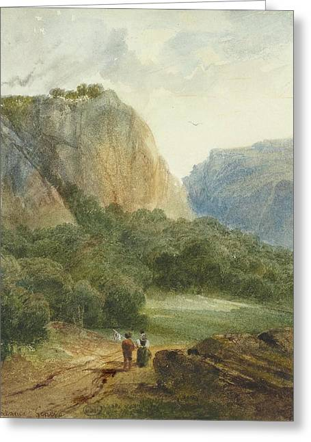 A Path Near Brnig In The Canton Greeting Card by Calame