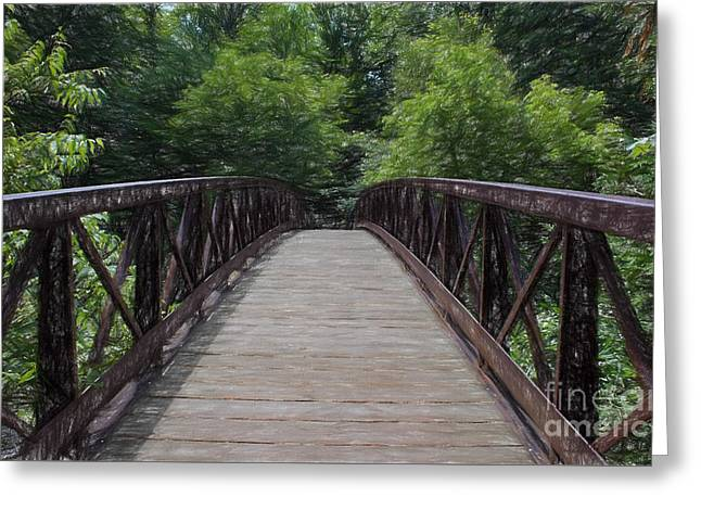 A Pathway To Nature Greeting Card by Barbara McMahon