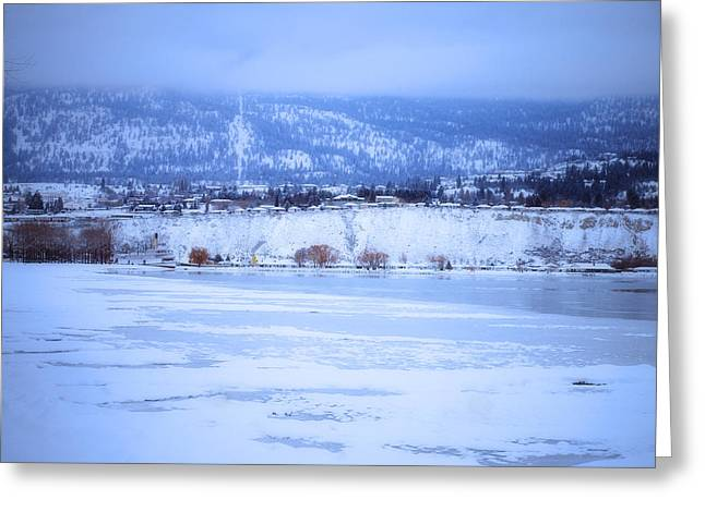 Penticton Greeting Cards - A Penticton Winter Greeting Card by Tara Turner