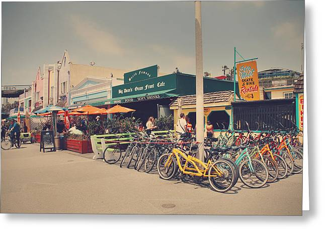 Santa Monica Greeting Cards - A Perfect Day for a Ride Greeting Card by Laurie Search