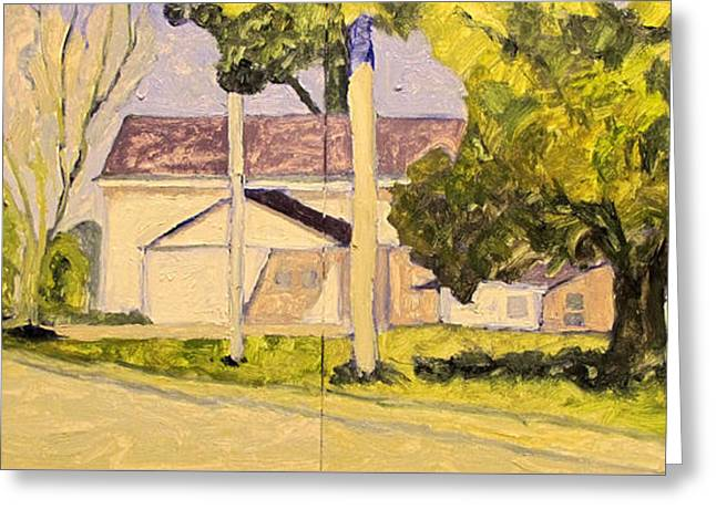 A Perfect Day Plein Air Framed Greeting Card by Charlie Spear