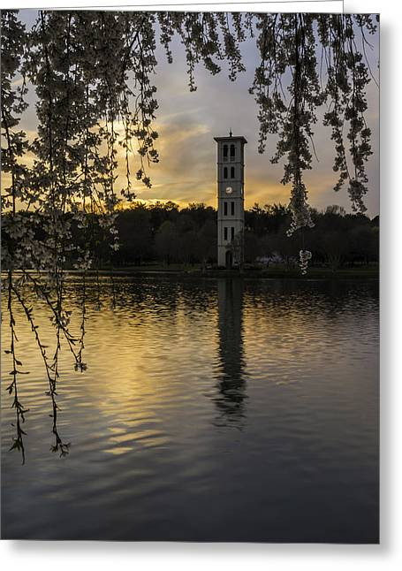 Willow Lake Greeting Cards - A Perfect Evening Greeting Card by Johan Hakansson