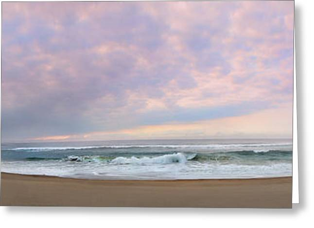 Panoramic Ocean Greeting Cards - PANORAMIC Photograph of a peaceful sunrise at Lake St Lucia in South Africa Greeting Card by Ronel Broderick