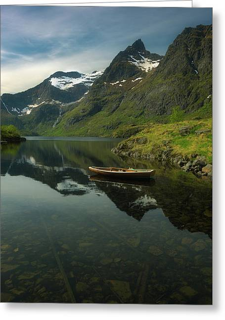 A Piece Of Peace Greeting Card by Tor-Ivar Naess