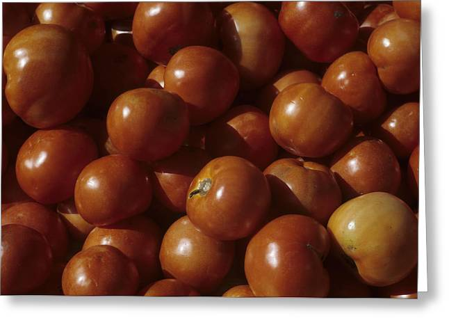 A Pile Of Tomatoes Stand Waiting Greeting Card by Taylor S. Kennedy