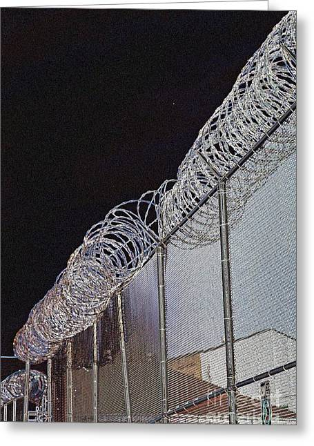 Public Jail Greeting Cards - A Place Of Desolation Greeting Card by Marcia Lee Jones